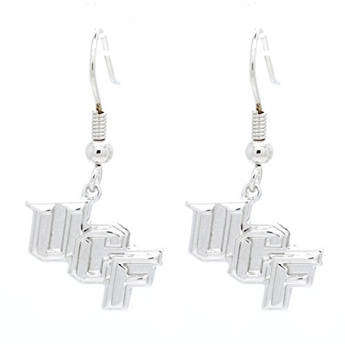 Violet Victoria & Fan Star UCF RHODIUM PLATED DANGLE EARRINGS - GREAT FOR SENSITIVE EARS ()