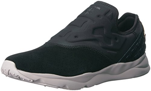 Reebok Women's Furylite Slip on Fbt Track Shoe, Black/Sand Stone, 7 M US by Reebok