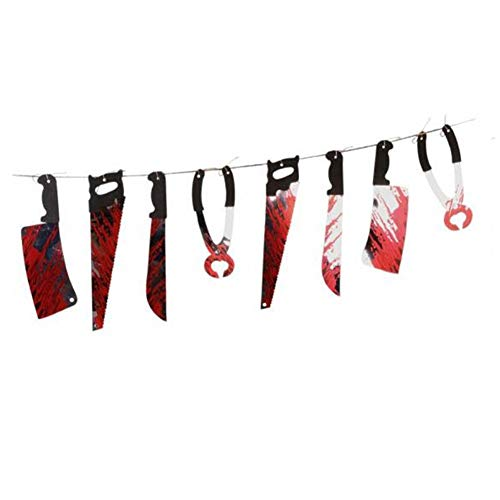 Bloody Weapons Horror Halloween Banners Bloody Props, Haunted House Hanging Decoration