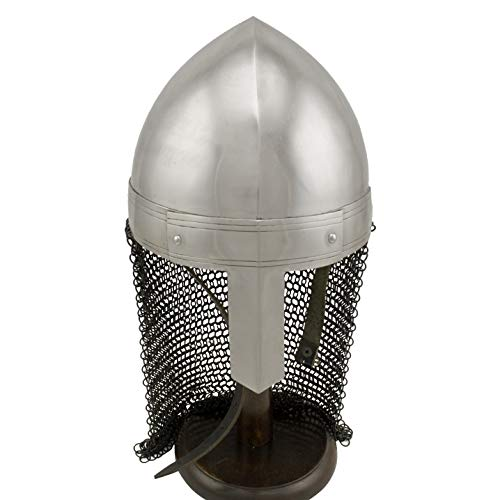 RED DEER Norman Nasal Helm with Black Chain