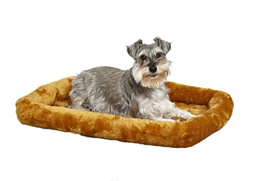 30L- Inch Cinnamon Dog Bed or Cat Bed w/ Comfortable Bolster | Ideal for Medium Dog Breeds & Fits a 30-Inch Dog Crate | Easy Maintenance Machine Wash & Dry | 1-Year Warranty (Large Dog Crate 2 In 1)
