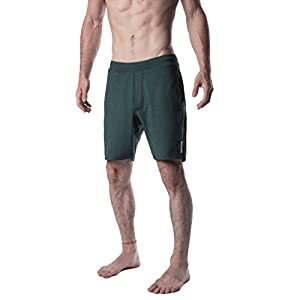 YOGA CROW Men's Swerve Yoga, Workout, Gym, Crossfit, Active Shorts w/Anti-Microbial Inner Liner