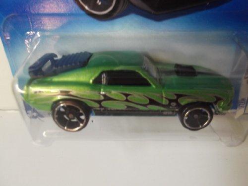 Hot Wheels '70 Mustang Mach 1- Green with Black Flames (9 Black Mustang)