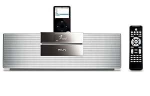 Philips Executive 30-Watt Micro Speaker System with iPod Dock (Black/Silver)