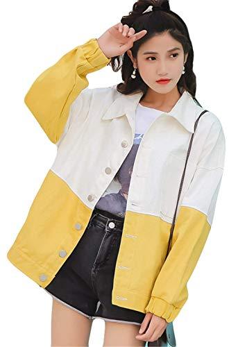 Colori Casual Outerwear Giacche Classiche Donne Gelb College Autunno Primaverile Fidanzato Elegante Giacca Tendenza Donna Cappotto Misti Sciolto Maniche Lunghe Fashion Ragazze wnOIngq8FU