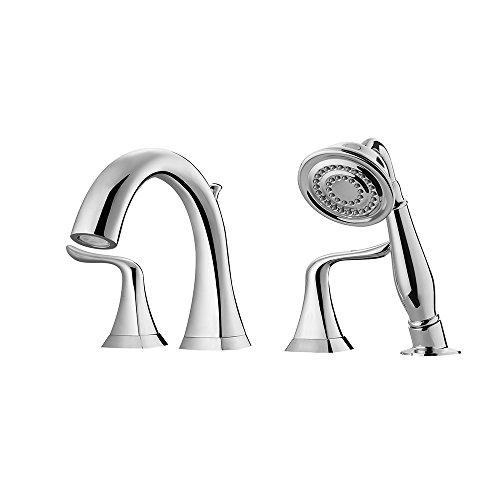 Pcs Roman Tub - Vinnova 104224-BTF-PC Claudius Roman Tub Faucet with Hand-Held Shower Polished Chrome