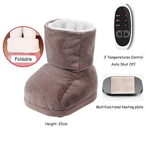 Great Shoulder Cold Therapy System Foot Warmer Electric Feet Heated Cushion,3 Heat Settings with Auto Shut Off,Improve Sleep and Blood Circulation,for Women,Men for Plantar Fasciitis,Brown 2019