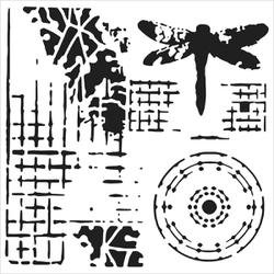 Bulk Buy: Crafters Workshop (3-Pack) Template 12\'X12\' Screen Print TCW-525