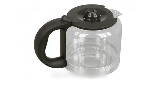 Rowenta – Jarra Cristal Negra + tapa para cafetera Rowenta – bvmpièces: Amazon.es: Hogar