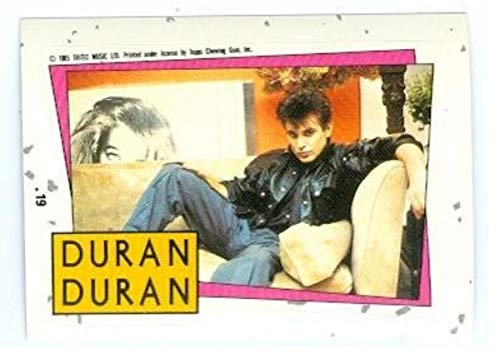 - Roger Taylor trading card sticker Duran Duran 1985 Topps #19