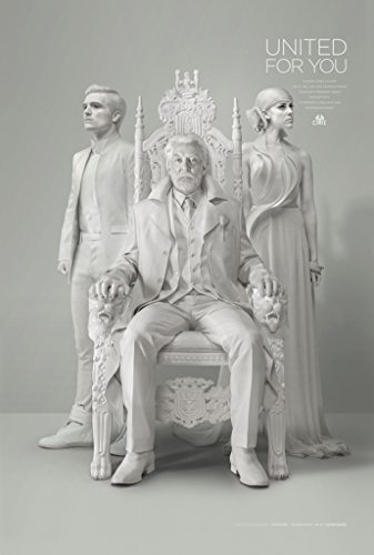 HUNGER GAMES MOCKINGJAY PART 1 MOVIE POSTER 2 Sided ORIGINAL PEETA & SNOW 27x40