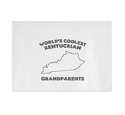 World'S Coolest Kentuckian Grandparents Kentucky Kitchen Bar Glass Cutting Board