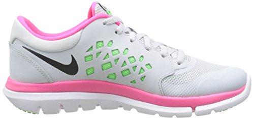 Nike Wmns Flex 2015 Rn, Zapatillas de Running para Mujer Gris (Pr Pltnm / Mtlc Hmtt Vltg Grn Hy)