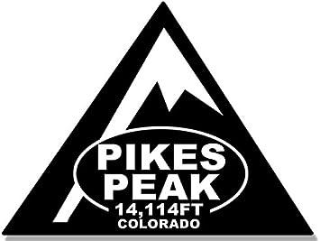 Climbed feet Travel Climb Hike co American Vinyl Triangle Shaped Pikes Peak Sticker