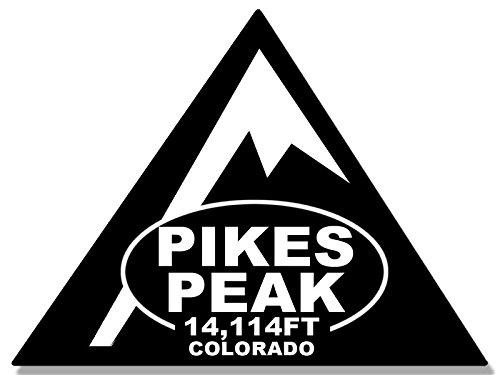 TRIANGLE Shaped PIKES PEAK Sticker (rv travel climb hike (Climb Sticker)