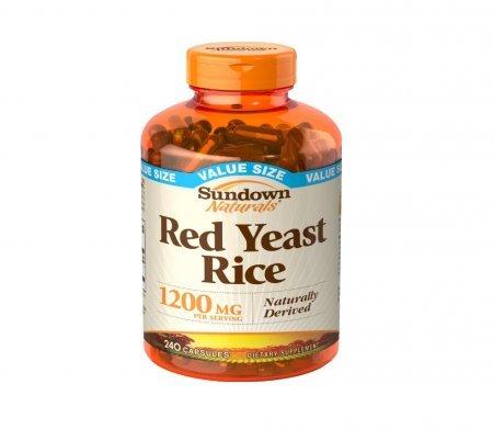 Sundown Naturals Red Yeast Rice, 1200mg, Capsules 240 ea