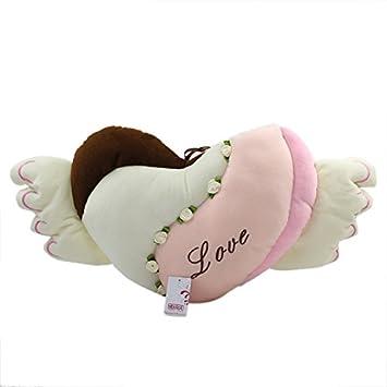 Alas de ángel forma de corazón almohada cojín regalo ...