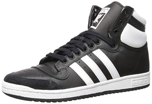 adidas Originals Men's Top Ten Hi Sneaker, core Black/FTWR White/core Black, 10.5 M US