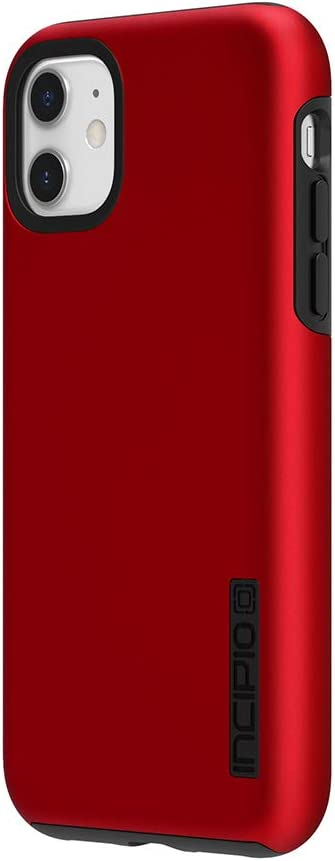 Incipio DualPro Dual Layer Case for Apple iPhone 11 with Flexible Shock-Absorbing Drop-Protection - Iridescent Red/Black