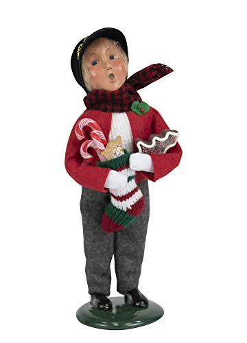 Byers' Choice Gingerbread Boy Caroler Figurine from The Christmas Market Collection #4464E (New 2019)