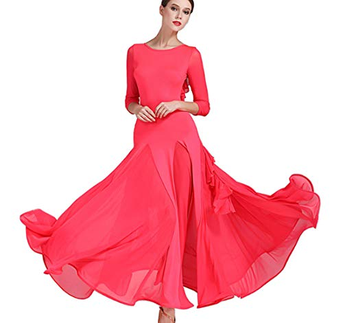 Skirts Red Dress Modern Waltz Cha Latin Ballroom qfSAxwB
