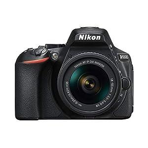 Nikon D5600 + AF-P 18-55 VR DSLR Camera – Black + Amazon Basics bag and tripod