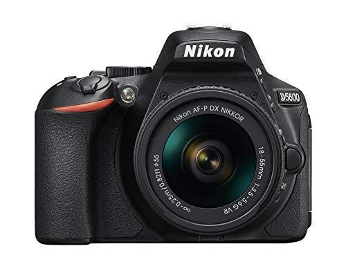 Nikon D5600 + AF-P 18-55 VR DSLR Camera – Black