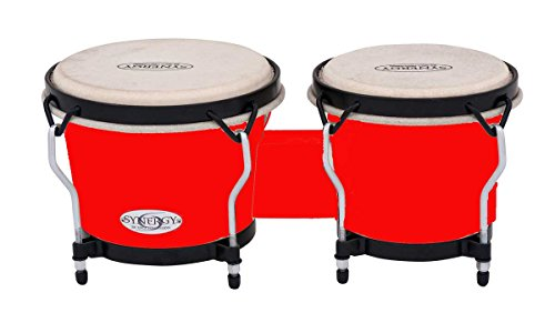 Toca Synergy Synthetic Bongo Drums - Red by Toca