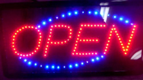 Sign Service Open Led - LED Open Sign 19x10