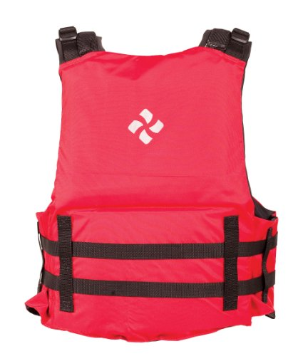 Extrasport Eagle Canoe/Kayak Rafting Fishing Personal Flotation Device/Life Jacket, Red/Black, X-Small/Small