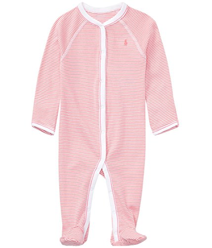 Ralph Lauren Baby Girl Coveralls Pajamas Infant One Piece Footies Footed (6 Months, Paisley Pink) (Ralph Lauren Pants For Girls)