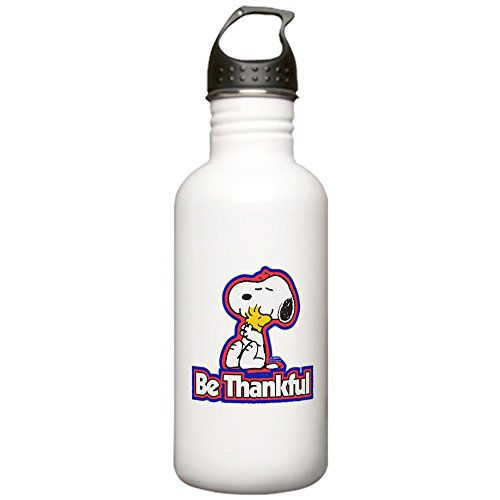 (CafePress - Peanuts Be Thankful Stainless Water Bottle 1 - Stainless Steel Water Bottle, 1.0L Sports Bottle)