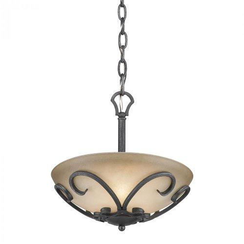 Black Iron Madera Bowl Pendant With 3 Li - Madera 3 Light Pendant Shopping Results
