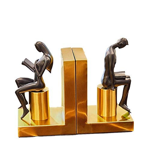 (XG Inc Thinker bookends,Simple and Modern Creative Bookend Book Study Decoration Home Decoration Bookcase Thinker Desktop Decoration)
