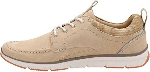 Clarks Mens Orson Bay Moc Toe Sneaker Sabbia Nubuck