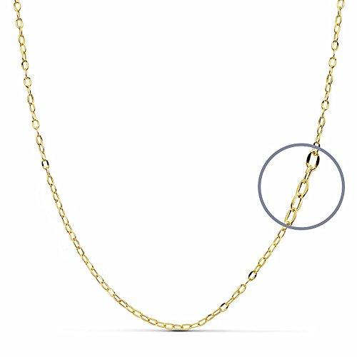 Chaîne 18k creux d'or forcé 40cm. [AA2669]