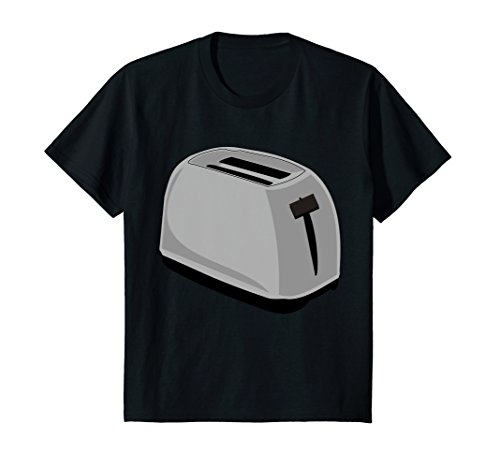Price comparison product image Kids Toaster Costume T-Shirt Breakfast Kitchen Appliance Cook 8 Black