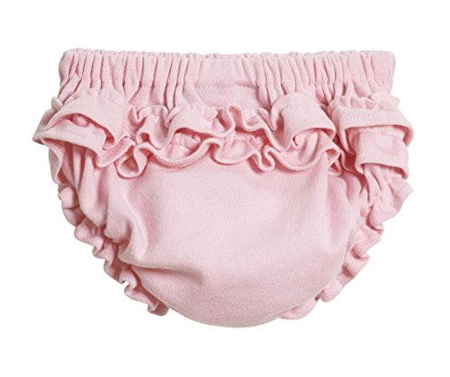 - City Threads Baby Girls' Ruffled Diaper Covers Bloomers Soft Cotton Fashionable Cute, Pink, 6/9 M