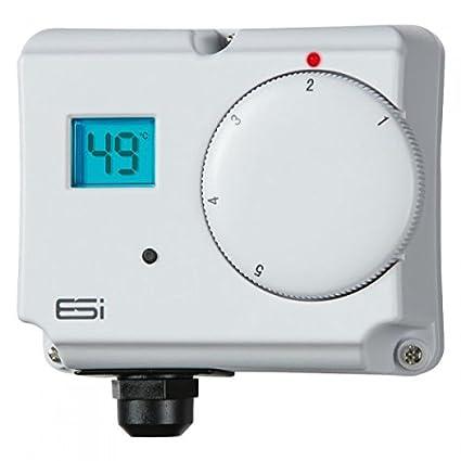 ESI - Termostato electrónico de doble cilindro para ahorro de energía, control de innovación,