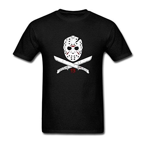 Feixia Men's Jason Voorhees of the Friday DIY Cotton Short Sleeve T Shirt (Jason Voorhees Clothes)