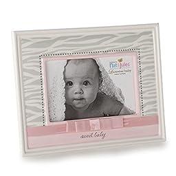 Nat and Jules Sweet Baby Zebra Frame, Pink