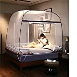 HEXbaby Pop up Mosquito Net for Bed Baby Crib Camping Portable Anti Mosquito Tent Free Standing Kids Adult,200180165cm
