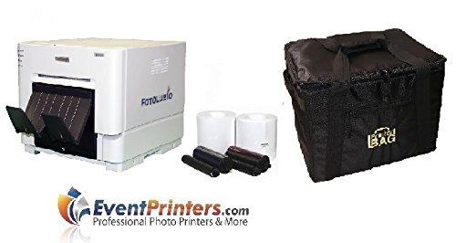 DNP RX1 Compact Pro Photo Booth + Portrait Printer BUNDLE w/carrying case + more by DNP
