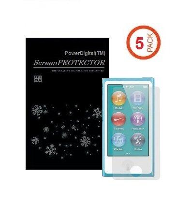 PowerDigital(TM) 5 Pack iPod Nano 7 Screen Protector (Matte Anti-Glare, Anti FingerPrint), iPod Nano 7th Gen / 7th Generation (2012 Newest Model)