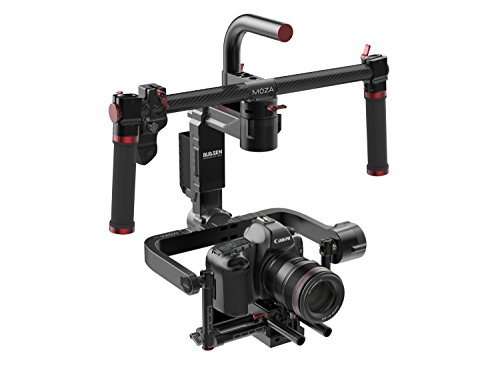 MOZA Lite II Basic Kit 3-Axis Motorized Handheld Gimbal Brushless Stabilizer Support Max.Payload 11lb/5kg for Blackmagic Series,Panasonic Lumix Series,Canon EOS Series,Sony a7 Series,Nikon D Series