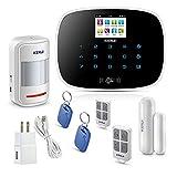 (US) KERUI Wireless Home/House Business Security Alarm System,3G WiFi PSTN Auto Dial APP Remote Control Smart Burglar Alert DIY Kit,W193 Come with Door Contact Sensor and PIR Motion Sensor
