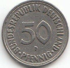 Brd Brdeutschland Jägernr 384 1950 J Sehr Schön Kupfer Nickel