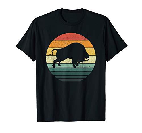 Buffalo Bison Shirt Sunset Retro Vintage 70s Nature Lovers T-Shirt