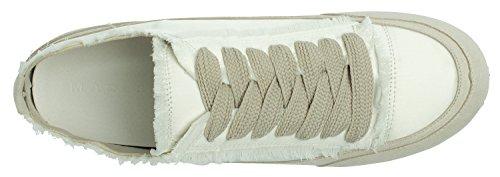 Annakastle Dames Satijnen Sneaker Ivory Met Satijnen Snit