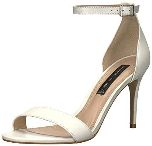 - STEVEN by Steve Madden Women's Naylor Heeled Sandal, White Leather, 8.5 M US